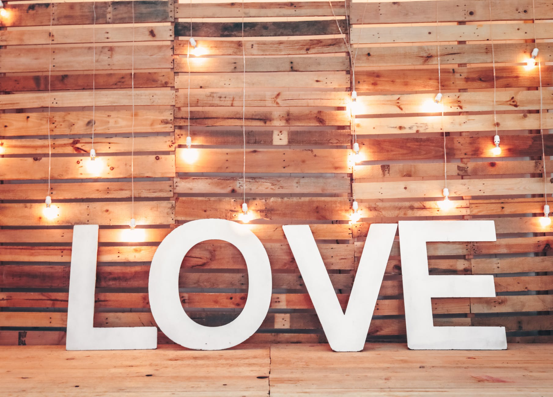 white love free standing letters